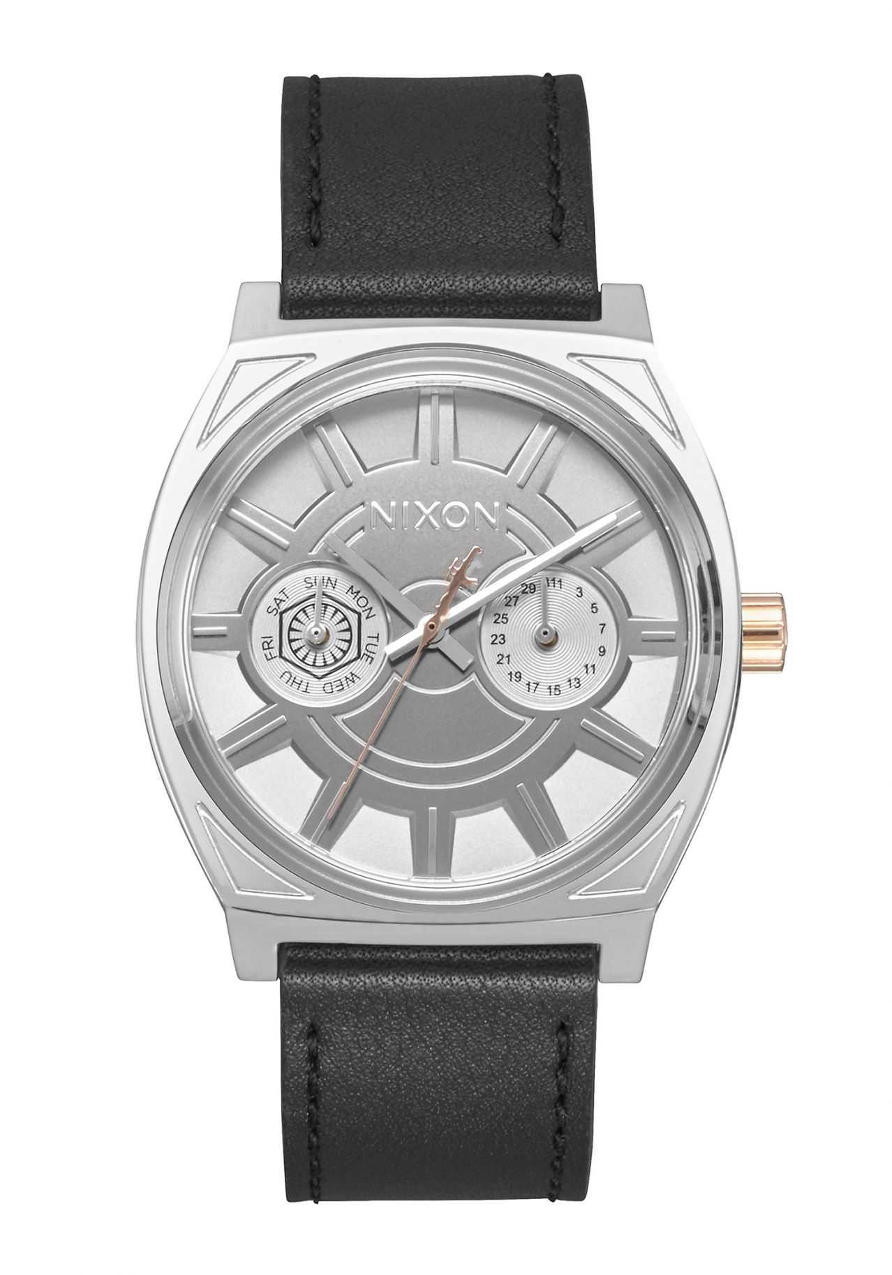 Nixon The Time Teller Deluxe Leather Star Wars Phasma Black