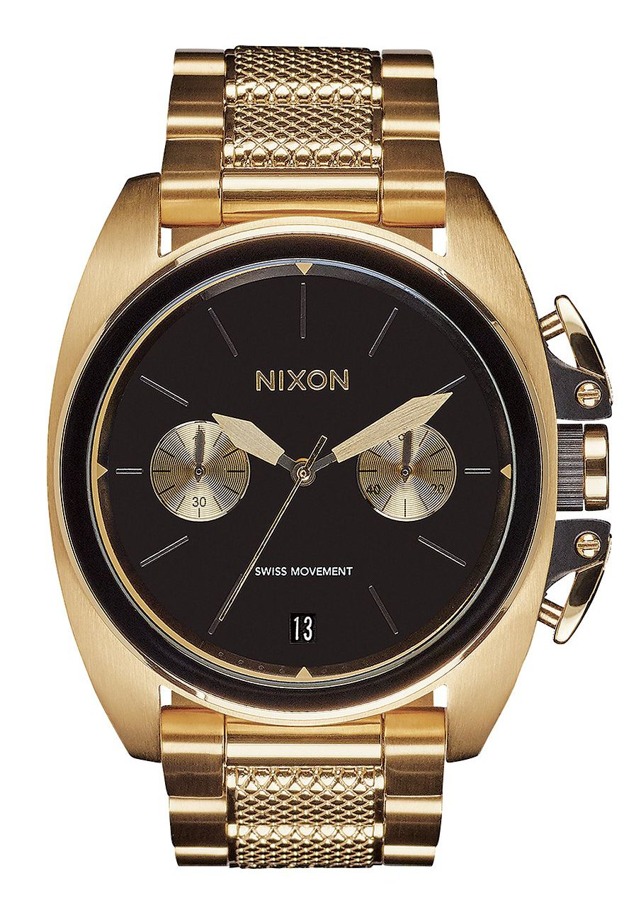 nixon the anthem chrono gold black a930513 nur 349 00. Black Bedroom Furniture Sets. Home Design Ideas