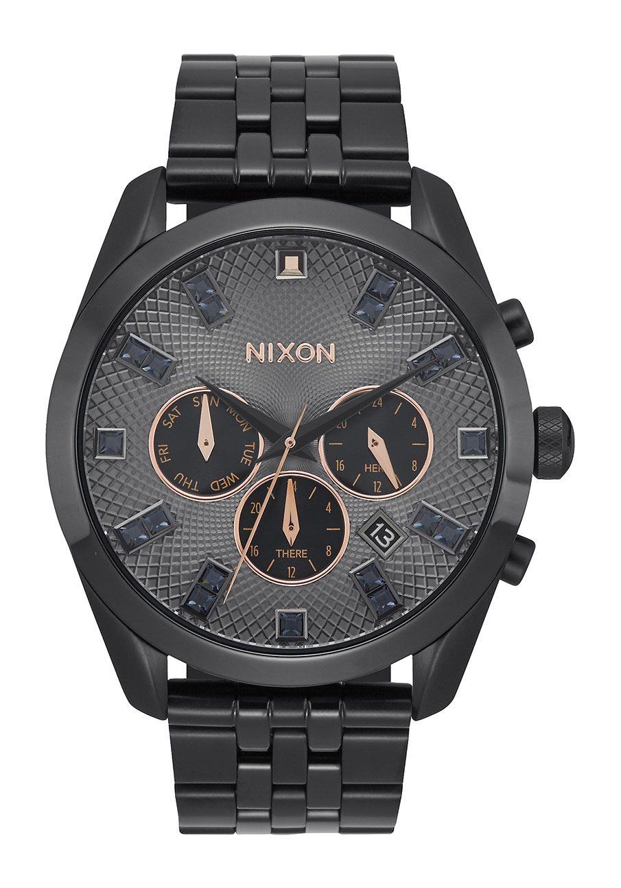 Nixon The Bullet Chrono Crystal Black Crystal / Rose Gold