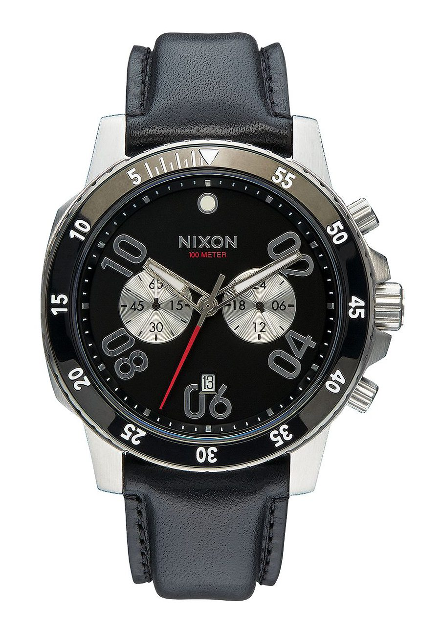 nixon the ranger chrono leather black a940000 nur 299 00. Black Bedroom Furniture Sets. Home Design Ideas