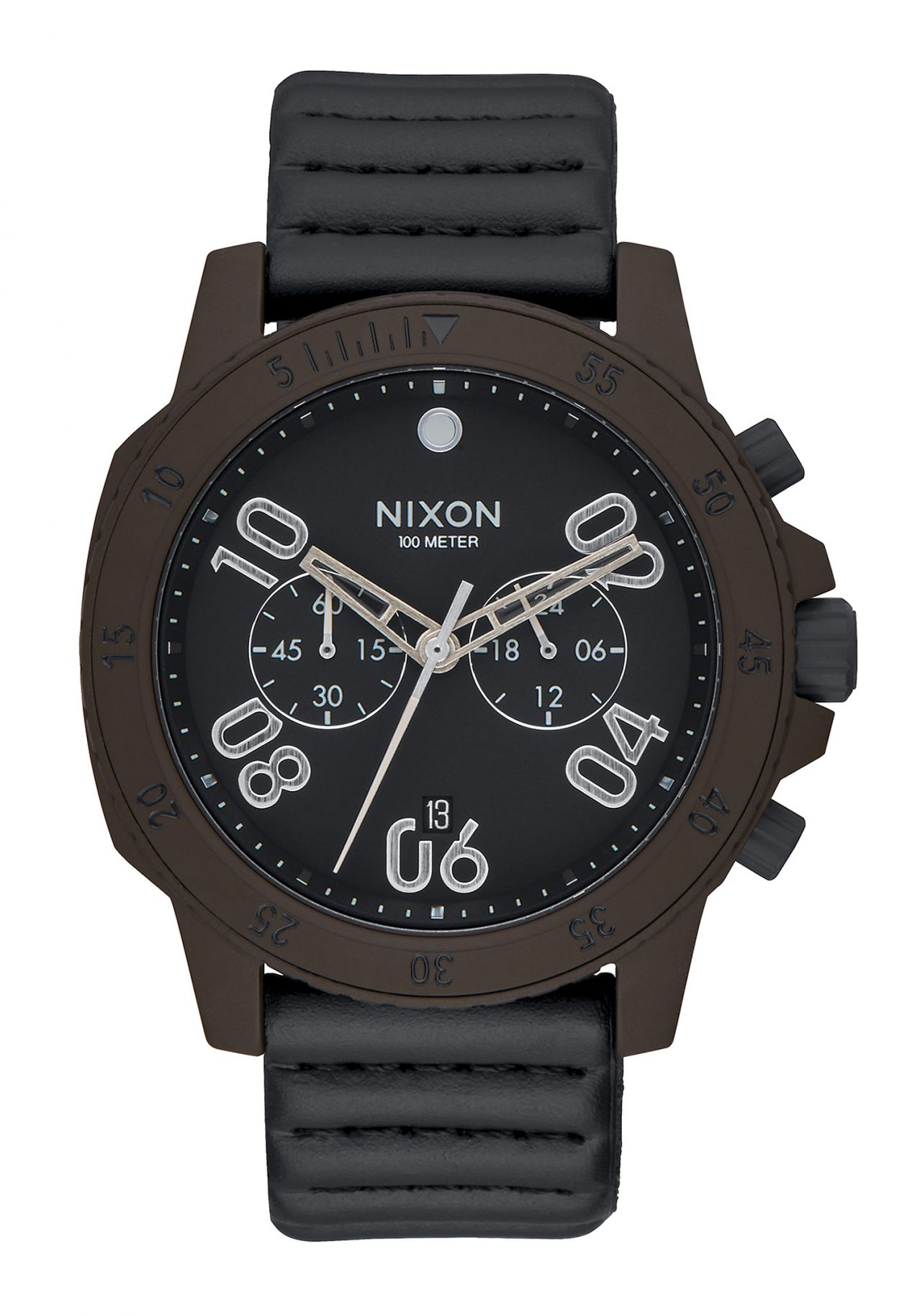 Nixon The Ranger Chrono Leather Bronze / Black