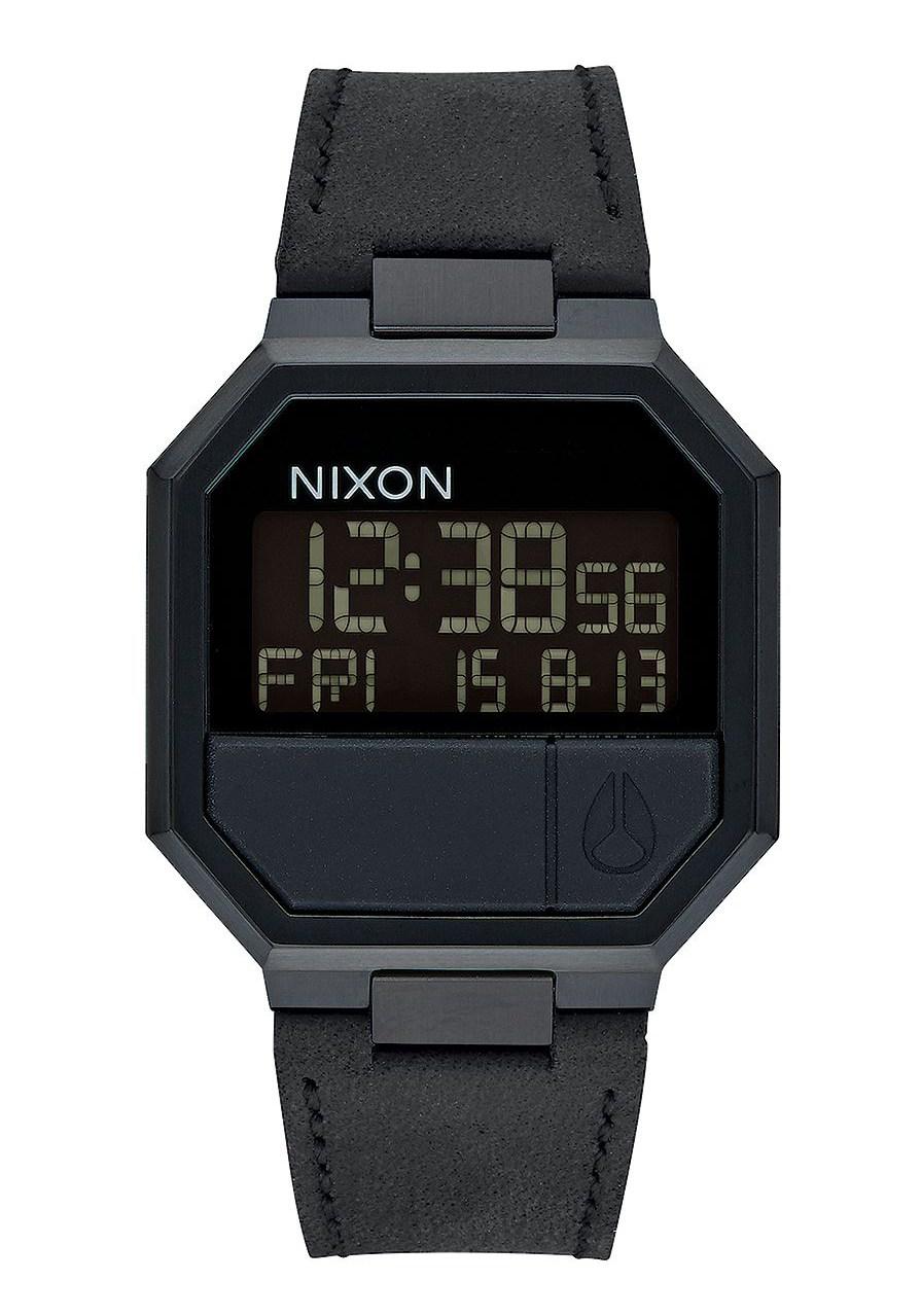 Nixon The Re-Run Leather All Black