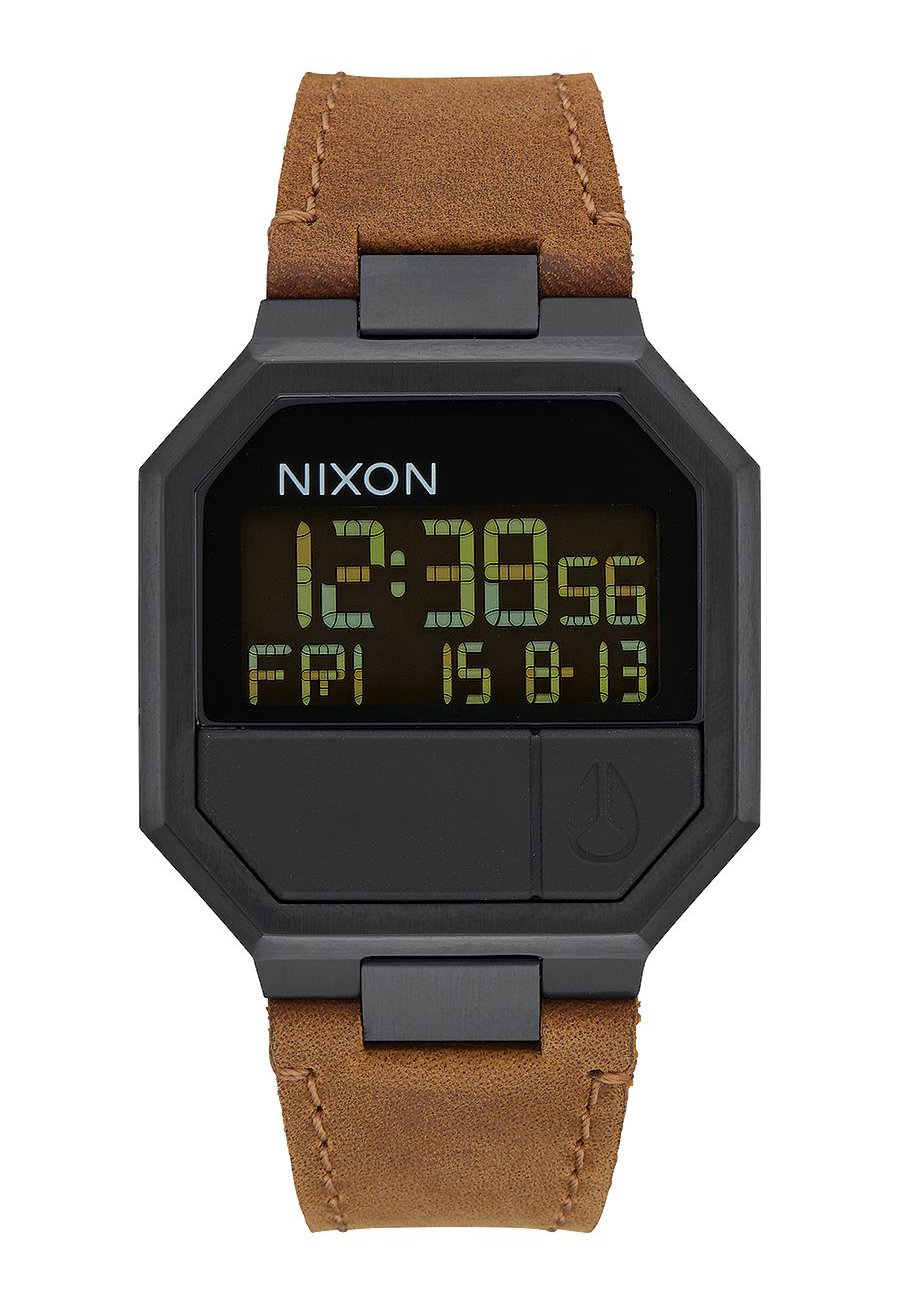 Nixon The Re-Run Leather All Black / Brown