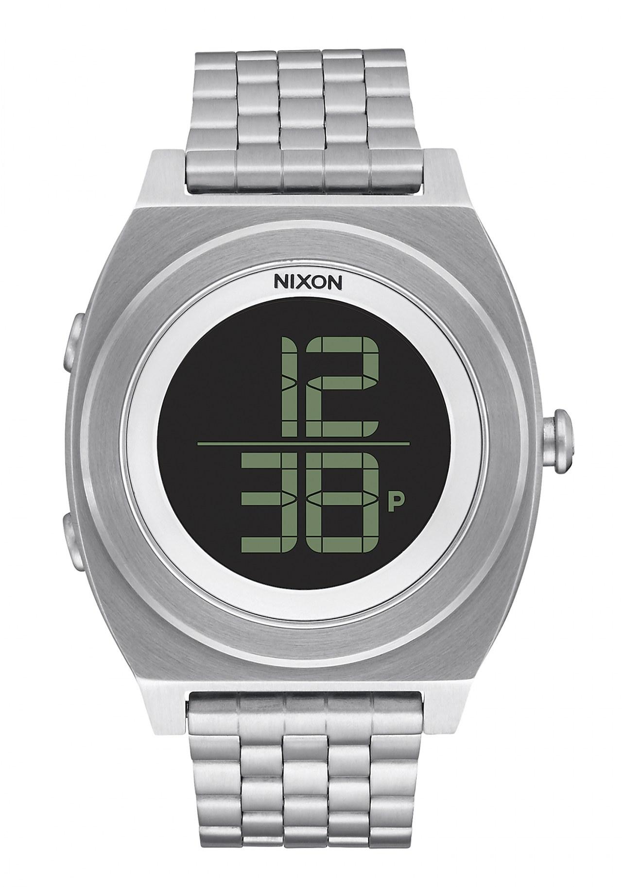 Nixon The Time Teller Digi SS Black Armbanduhr
