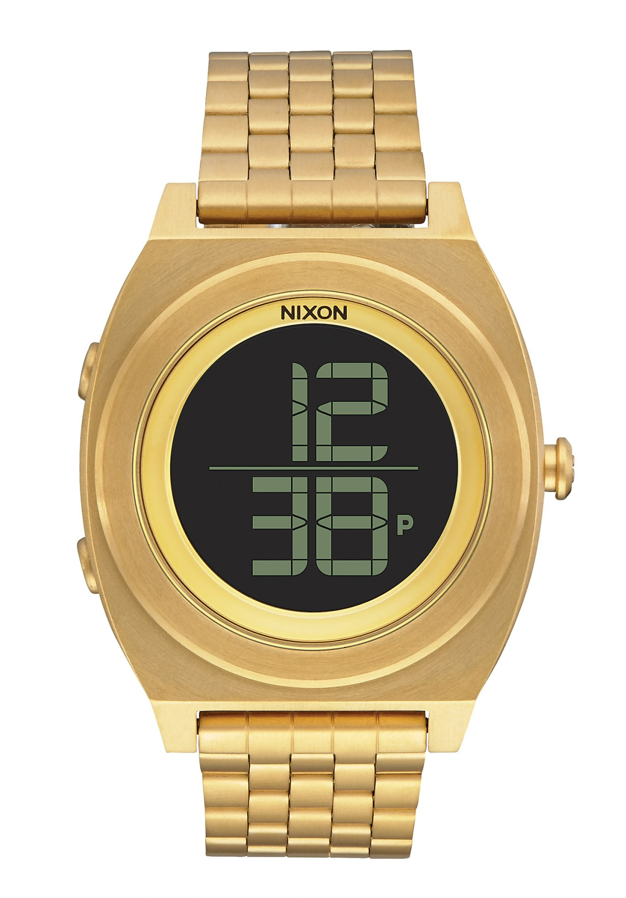 Nixon The Time Teller Digi SS All Gold Armbanduhr