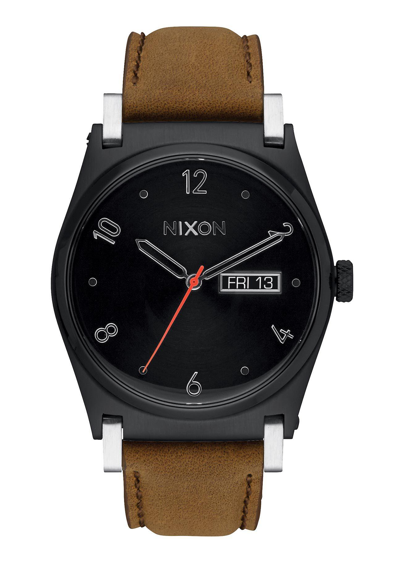 Nixon The Jane Leather Black / Saddle