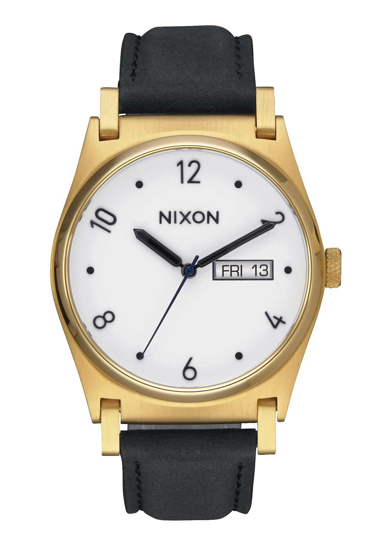 Nixon The Jane Leather Gold Black