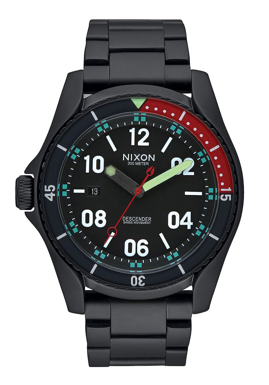 Nixon The Descender All Black Multi Herrenuhr