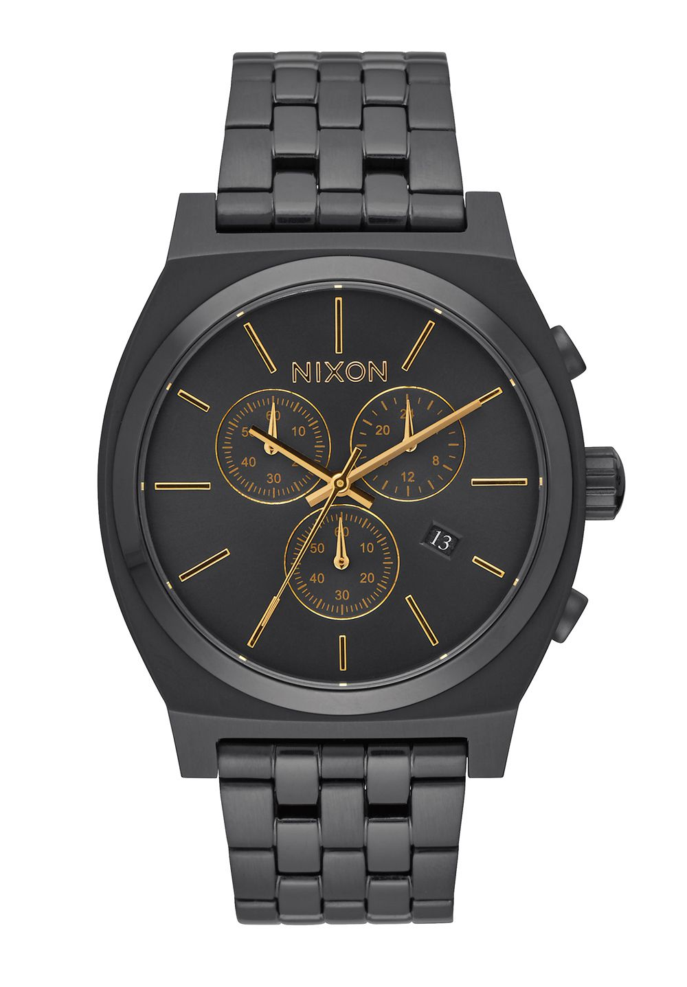 Nixon The Time Teller Chrono All Black / Gold