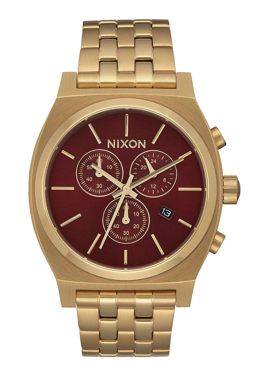 Nixon The Time Teller Chrono All Gold / Deep Burgundy