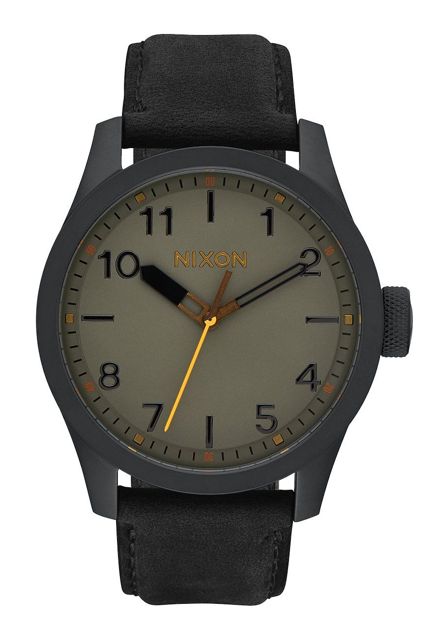 Nixon The Safari Leather All Black / Gray
