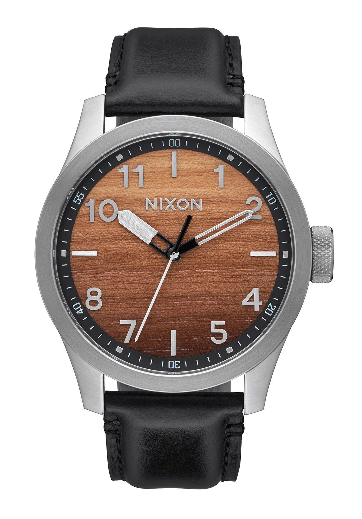 Nixon The Safari Leather Wood / Silver