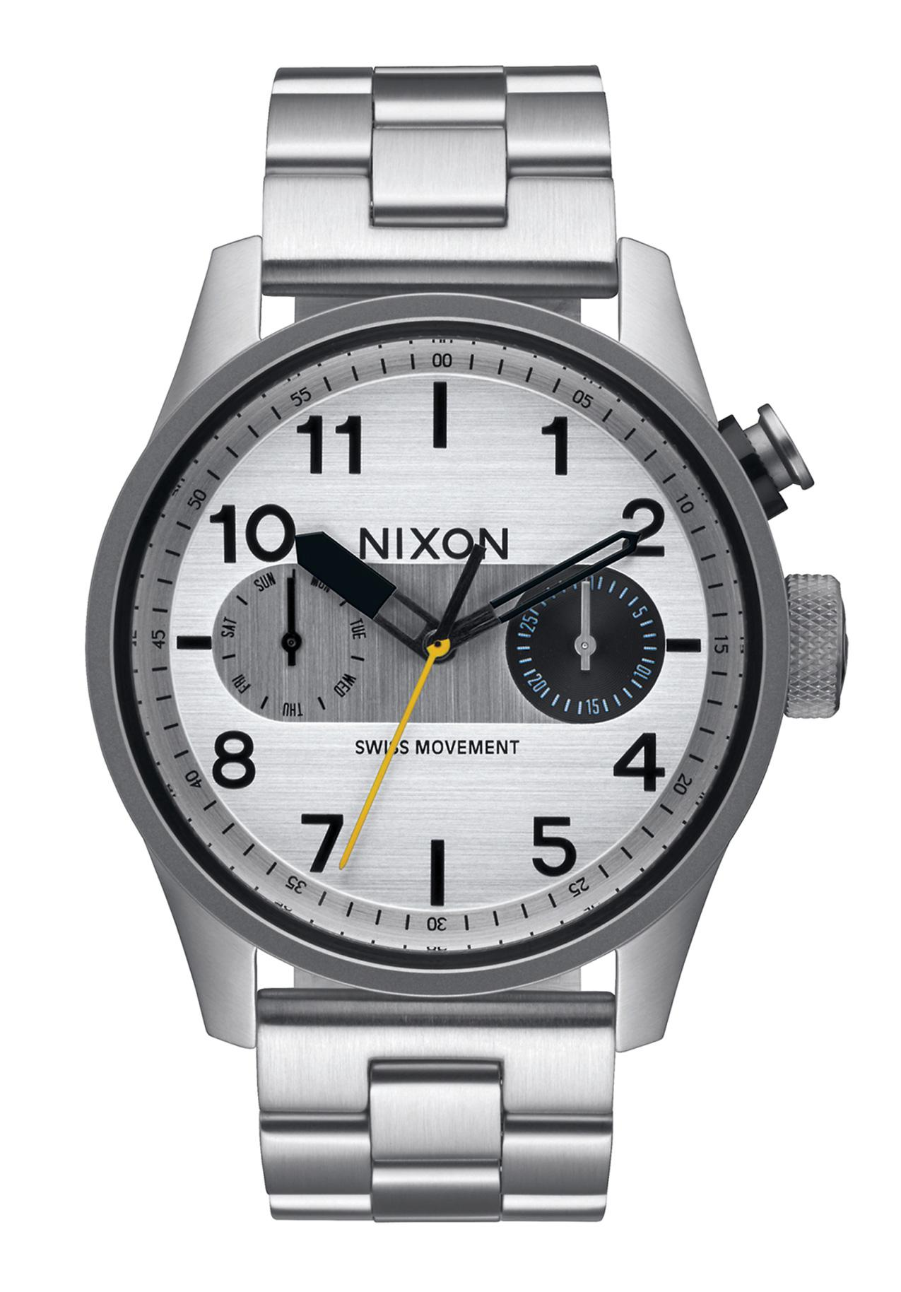 Nixon The Safari Deluxe Silver