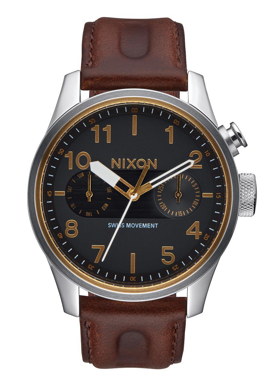 Nixon The Safari Deluxe Leather Black / Brown