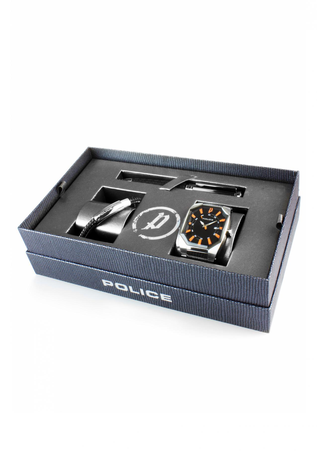 Police Octane Geschenkbox (Uhr, Armband, Kugelschreiber)