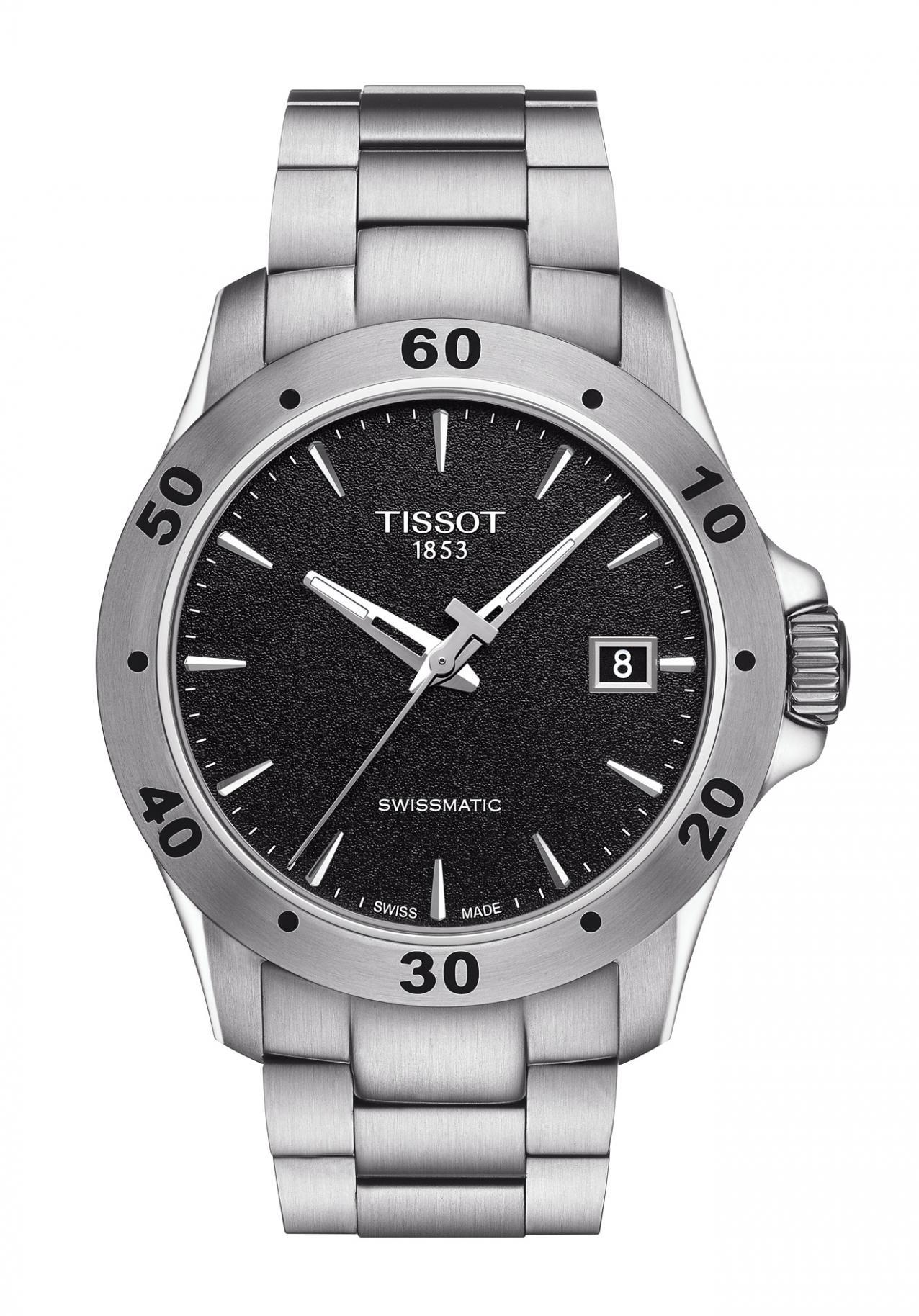 Tissot V8 Swissmatic Mens Watch Automatic Nur 44000 Prc 200 T0554301105700 Black Official Dealer