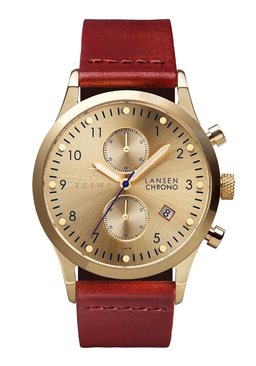 Gold Lansen Cognac Classic Chronograph (LCST103_CL012913)
